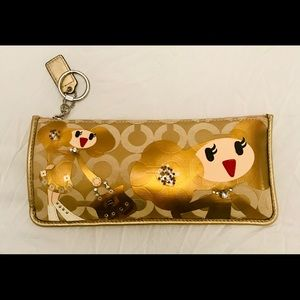 "Coach Poppy ""Goldie"" Pencil Case RARE"